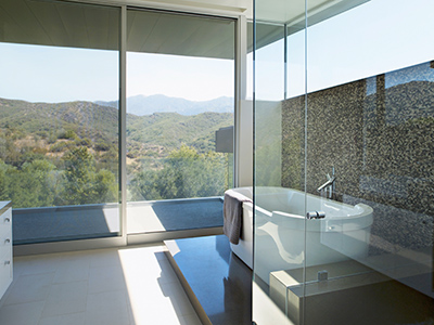 Exclusive modern white bathroom